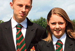 Two St Anselm's Caltholic school students